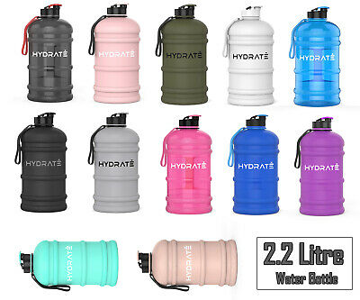 £18.49 • Buy HYDRATE XL Jug 2.2 Litre Water Bottle - BPA Free, Flip Cap, Ideal For Gym - Colo