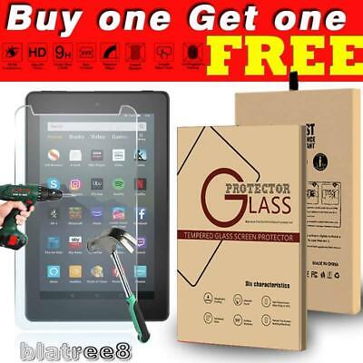 £7.99 • Buy 2X Pack Tempered Glass Screen Protector Cover For Amazon Kindle Fire 7/HD 8/HD10