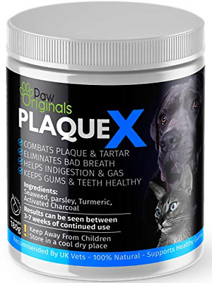 Plaque X 100% Natural Plaque Off & Tartar Remover For Dogs & Cats | Breath For & • 10.29£