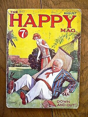 Happy Mag No51 Aug.1926,Just William,Richmal Crompton,Thomas Henry, VG • 25£