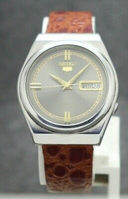 $ CDN31.54 • Buy Authentic Seiko 5 Automatic Movement 7019 Japan Made Men's Watch.