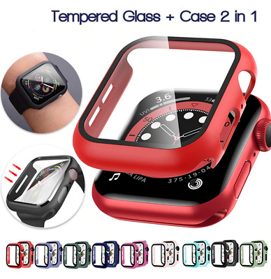 AU7.95 • Buy For Apple Watch IWatch Series SE 6 5 4 3 2 1 Case Full Glass Cover 38 40 42 44mm