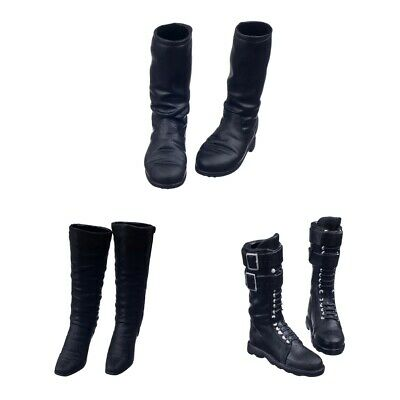 $9 • Buy 1/6 Female Mid-calf Long Boots For 12inch / /Enterbay Figures