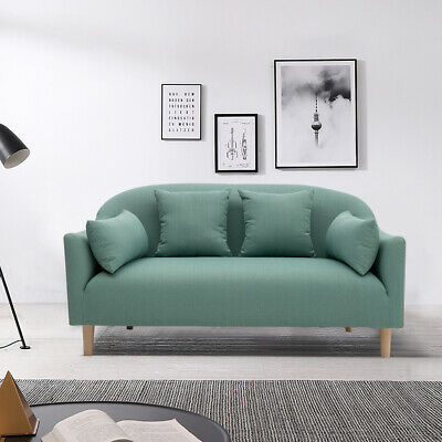 Linen Fabric Japanese-style Sofas Futon Chaise Couch 2/3 Seater Settee W/Pillow • 455.94£