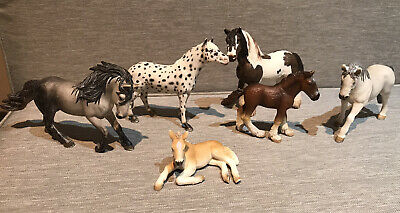 Schleich Lot Of 6 Spotted Appaloosa Tinker Draft Foals Retired Horses • 25.33£