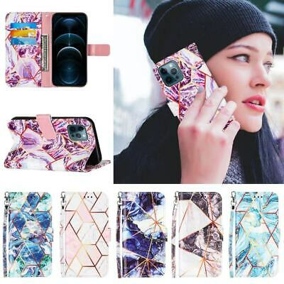 AU9.99 • Buy Case For IPhone 12 11 Pro XR XS MAX 8 7 Marble Luxury Leather Wallet Flip Cover