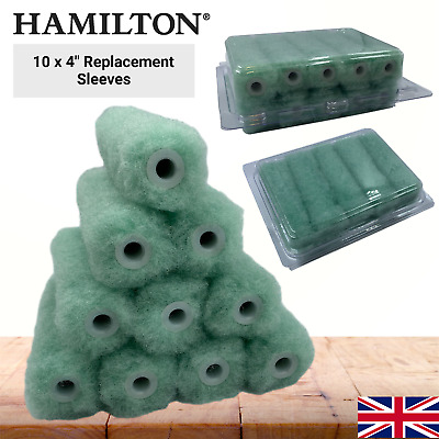 £6.75 • Buy Hamilton Paint Roller Sleeves 4 Inch Mini Replacement DIY Painting Decorating
