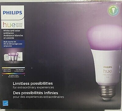 AU163.10 • Buy Philips Hue Bulb Starter Kit. E26