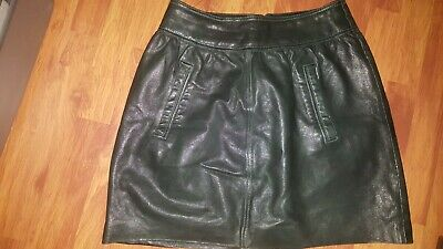 AU88 • Buy GORMAN Leather Skirt Size 10 Preowned