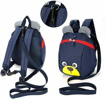 £8.99 • Buy Kids Bear Character Backpack With Detachable Reins Toddlers Nursery Safety Bag