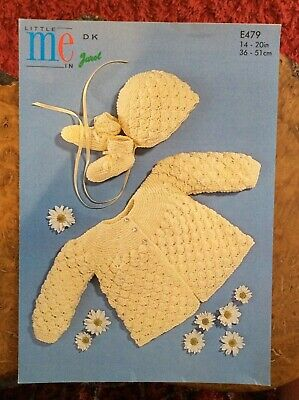 £2.80 • Buy Baby Knitting Patterns.cardigans.hat.booties.size 14-20 Inch Chest.DK.Jarol.