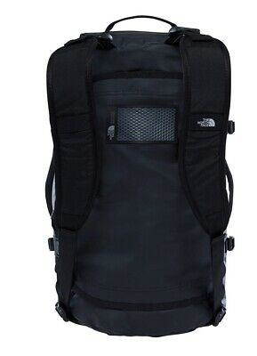 The North Face Base Camp Duffle Bag Small S Size 50L Black Silver Holiday Travel • 44£