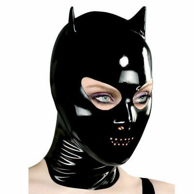 $37.77 • Buy 0.4mm Sexy Latex Mask Rubber With Small Ear For Catsuit Wear Games Costume Gummi