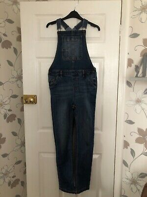Girls FAT FACE Long Denim Dungarees Age 12/13 Years • 14.99£