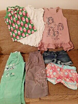 Joblot Girls Tops Trousers Shorts X7 Age: 8-9 Years NEXT - BLUE ZOO - M&S • 15£