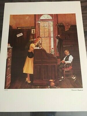 $ CDN74.85 • Buy NORMAN ROCKWELL 1978 Signed Limited Edition Litho  Marriage License