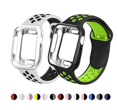AU2.95 • Buy Silicone Band &  Case For Apple Watch IWatch Series SE 6 5 4 3 2 38/40mm 42/44mm