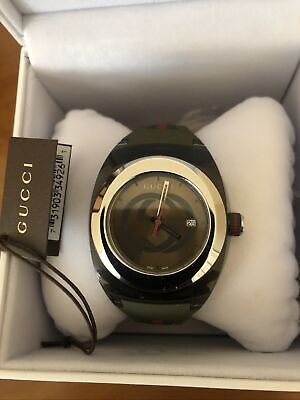 AU155 • Buy Gucci Mens Watch YA137106 SyncXXL Khakl(Green)