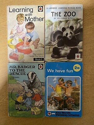 4 Vintage Ladybird Books Mr Badger To The Rescue Zoo Learning With Mother Fun • 12£