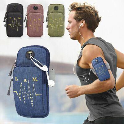 AU13.29 • Buy Running Jogging Gym Arm Band Mobile Phone Holder Bag For IPhone X 8 11 Samsung