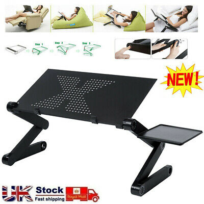 Laptop Stand Desk Table Adjustable Folding Computer Table Portable Sofa Lap Tray • 14.98£