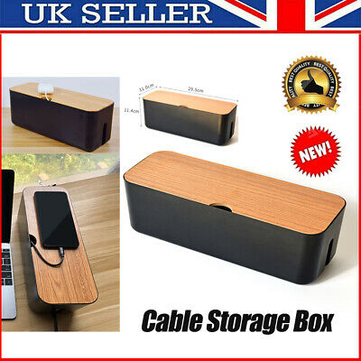 Cable Storage Box Power Strip Wire Case Container Anti Dust Socket Organizer UK • 11.69£