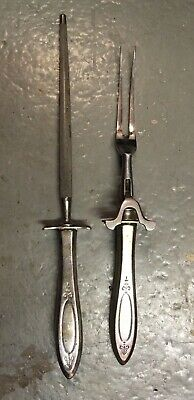 £24.90 • Buy Heavy Vintage Carving Steel / Silver Plated Set Of 2