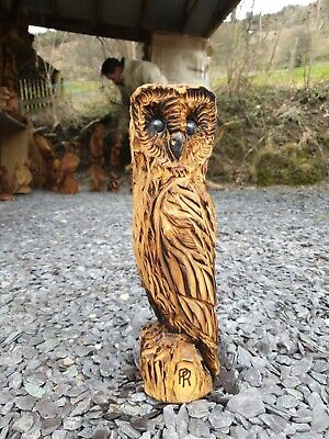 £49.99 • Buy Chainsaw Carved Hardwood Owl