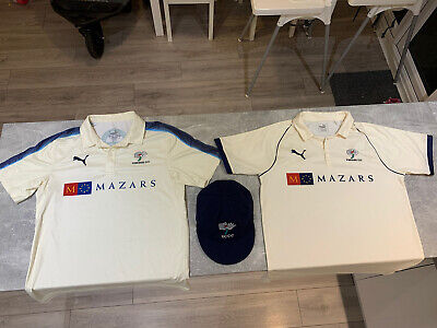 Yorkshire Cricket Shirts And Cap England Boycott Root Vaughan  Brand New Mens • 26£