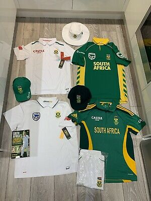 South Africa Cricket Shirts And Caps Bundle Book Kallis DeVilliers Steyn England • 74.99£