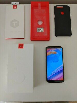 AU104.39 • Buy OnePlus 5T - 128GB - Midnight Black (Unlocked) W/ Charger, Screen Shield & Case