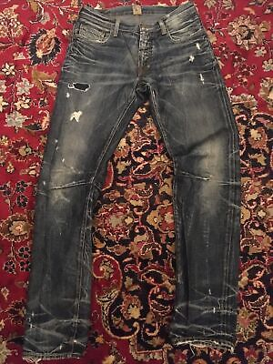 Prps Jeans Distressed Blue W33 But Fit Tight Mens • 99£