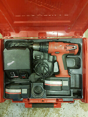 Milwaukee Battery Cordless Drill Hammer Driver 18 Volt Boxed With Charger • 89£