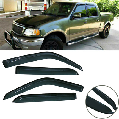 $30.99 • Buy For Ford F150 Crew Cab 4Dr 2001-2003 Window Shade Visors Vent Rain Guard Shelter