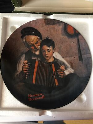 $ CDN17.57 • Buy Norman Rockwell Collector's Plate  The Music Maker  1981 Limited Edition