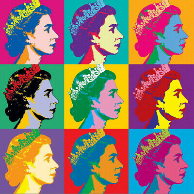 £18 • Buy Andy Warhol The Queen Giclee Canvas 20 X20  Print Paintings Poster Reproduction