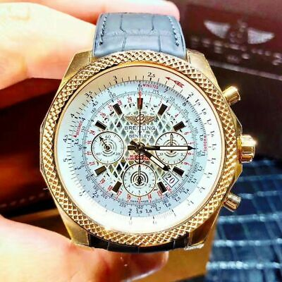 $ CDN6.98 • Buy New BREITLING Bentley RB061112 G76918K Rose Gold49mm White Men`s Automatic Watch