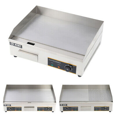 £219.95 • Buy Electric Catering Griddle BBQ Grill Plate Countertop StainlessSteel Hot Plate UK
