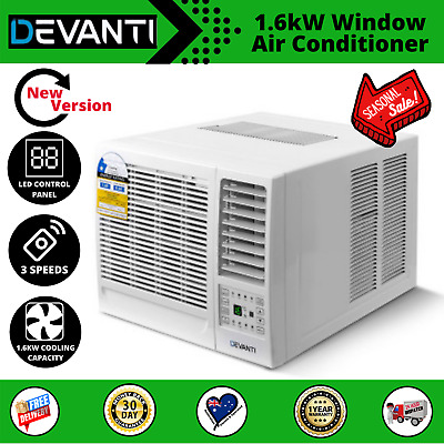 AU349.97 • Buy Devanti 1.6kW Window Air Conditioner Cooler Wall Box Refrigerated
