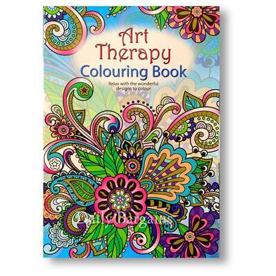 £3.39 • Buy A4 Adult Colouring Books Colour Therapy Patterns  Anti-Stress  Books