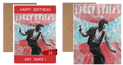 £3.99 • Buy HARRY STYLES ART POSTER Personalised Birthday Card - Photo Print Or Poster
