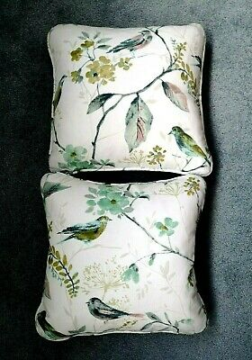 Two Lovely Filled Scatter Cushions Woodland Birds Zipped Covers 15 X 15   VGC • 9£