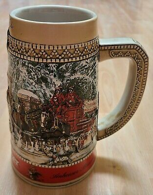 $ CDN18.73 • Buy 1987 Budweiser Clydesdale Collector Holiday Beer Stein  C  Series Anheuser Busch