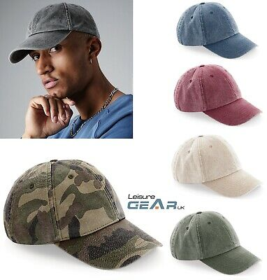 £7.99 • Buy Mens Vintage Cotton BASEBALL CAP Womens Low Profile Camouflage Sports Sun Hat