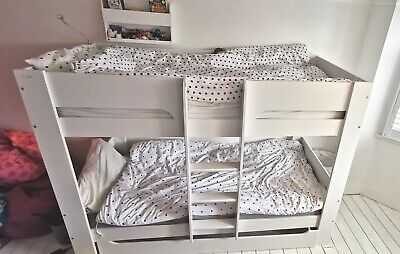 White Flexa Bunk Bed With Underbed Storage. Two Years Old And In VGC.N/S Home. • 135£