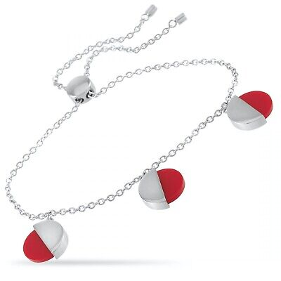 Calvin Klein Spicy Stainless Steel Red Coral Bracelet In Box  Bnwt  • 39.99£