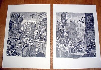 £15 • Buy William Hogarth Gin Lane & Beer Street Reproduction Prints+ Copy Of Story