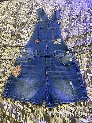 Girls Bling Dungarees Aged 11-12 • 5£