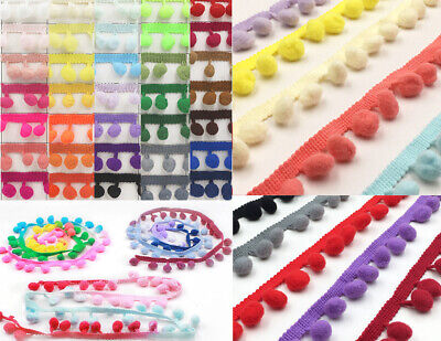 Pom Pom Trim Sewing Craft  36 Different Colours : Size : 12mm  #10 • 2.39£
