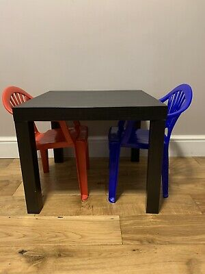 Black Ikea Table & 2x Children's Chairs • 5£